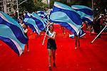 Revellers take part of the Annual Columbus day parade in New York, United States. 08/10/2012. Photo by Eduardo Munoz Alvarez / VIEWpress.