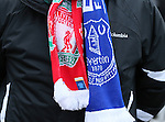A fans friendship scarf worn for the Derby game - Barclays Premier League - Everton vs Liverpool - Goodison Park Stadium  - Liverpool - England - 7th February 2015 - Picture Simon Bellis/Sportimage