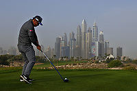 Hideto Tanihara (JPN) on the 8th tee during Round 1 of the Omega Dubai Desert Classic, Emirates Golf Club, Dubai,  United Arab Emirates. 24/01/2019<br /> Picture: Golffile | Thos Caffrey<br /> <br /> <br /> All photo usage must carry mandatory copyright credit (&copy; Golffile | Thos Caffrey)