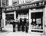 Bergin's stationery store and undertakers on South Main Street, Waterbury