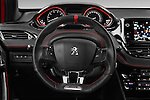Car pictures of steering wheel view of a 2016 Peugeot 208 GTI 3 Door Hatchback 2WD Steering Wheel