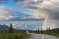Rainbow over the Denali Park Road, Denali National Park, Alaska