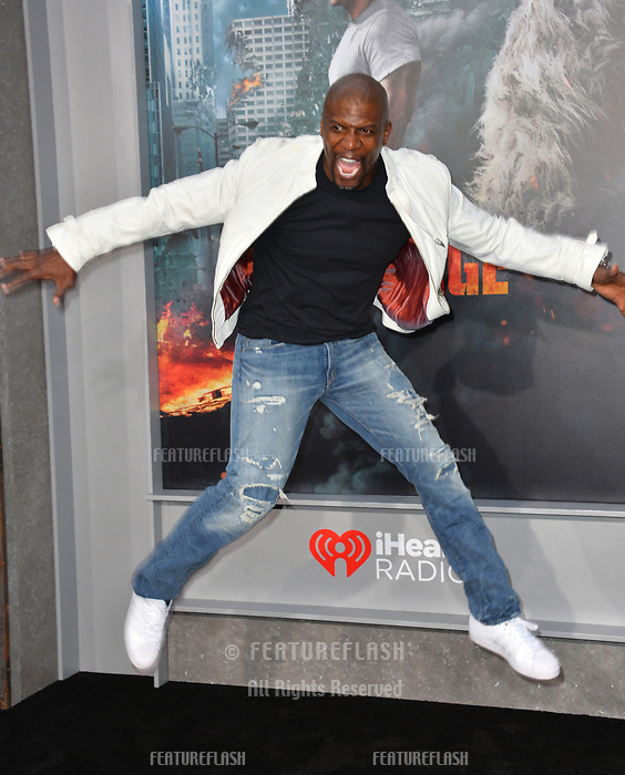 Terry Crews at the premiere for &quot;Rampage&quot; at the Microsoft Theatre, Los Angeles, USA 04 April 2018<br /> Picture: Paul Smith/Featureflash/SilverHub 0208 004 5359 sales@silverhubmedia.com