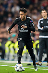 Neymar da Silva Santos Junior, Neymar Jr, of Paris Saint Germain in action during the UEFA Champions League 2017-18 Round of 16 (1st leg) match between Real Madrid vs Paris Saint Germain at Estadio Santiago Bernabeu on February 14 2018 in Madrid, Spain. Photo by Diego Souto / Power Sport Images