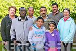 FESTIVAL: Attending the screening of Raajneeti at Siamsa Tire, Tralee as part of the 2nd Indian Film Festival of Ireland on the festivals first time in Kerry last Friday l-r: Helen FitzGerald, Bernard Mbencho, Sujith Abraham, Jebin John Cheriah John, Jemi John, Matthew Eldo and Ann MacKenzie.