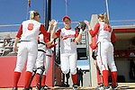 MADISON, WI - APRIL 16: Infielder Theresa Boruta #14 of the Wisconsin Badgers softball team takes the field against the Indiana Hoosiers at Goodman Diamond on April 16, 2007 in Madison, Wisconsin. (Photo by David Stluka)