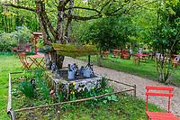 France, Indre-et-Loire (37), Amboise, la pagode de Chanteloup, espace détente