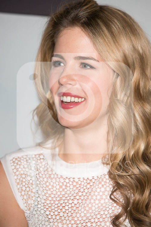 """The actress Emily Bett Rickards attends the fan event of the tv shows ARROW and THE 100, at the """"ATRESMEDIA CAFE""""   in Madrid, Spain. Jun 9, 2014. (ALTERPHOTOS/Carlos Dafonte)"""