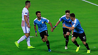 ARMENIA, COLOMBIA - JANUARY 19: Uruguay's Diego Rossi (2nd-L) celebrates his goal with teammates during their CONMEBOL Pre-Olympic soccer game against Paraguay at Centenario Stadium on January 19, 2020 in Armenia, Colombia. (Photo by Daniel Munoz/VIEW press/Getty Images)
