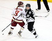 Allie Thunstrom (Boston College - 9), Brittany Simpson (Providence - 26) - The Providence College Friars defeated the Boston College Eagles 2-1 (shootout) on Saturday, February 21, 2009, on BC's senior night at Conte Forum in Chestnut Hill, Massachusetts.