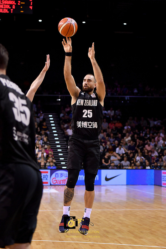 New Zealand Tall Blacks&rsquo; Ethan Rusbatch in action during the FIBA World Cup Basketball Qualifier - NZ Tall Blacks v Syria at TSB Bank Arena, Wellington, New Zealand on Sunday 2 2018. <br /> Photo by Masanori Udagawa. <br /> www.photowellington.photoshelter.com