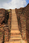 Stone staircase in the rock palace at Sigiriya, Central Province, Sri Lanka, Asia