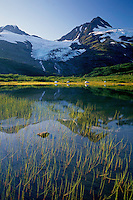 Divide Lake and Shakespeare Glacier<br />   from Portage Pass<br /> Chugach National Forest<br /> Kenai Mountains,  Alaska