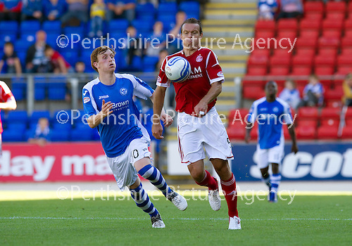 St Johnstone v Aberdeen....18.08.12   SPL.Gavin Rae and Liam Craig.Picture by Graeme Hart..Copyright Perthshire Picture Agency.Tel: 01738 623350  Mobile: 07990 594431