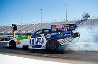 Oct 14, 2019; Concord, NC, USA; NHRA funny car driver Ron Capps during the Carolina Nationals at zMax Dragway. Mandatory Credit: Mark J. Rebilas-USA TODAY Sports