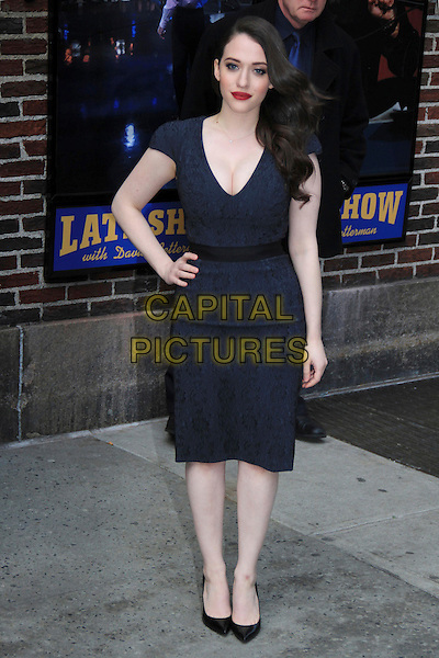 NEW YORK, NY - FEBRUARY 25: Kat Dennings at Late Show with David Letterman in New York City on February 25, 2014. <br /> CAP/BT<br /> &copy;BT/Capital Pictures