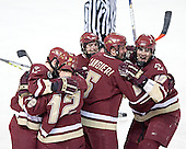Peter Harrold, Chris Collins, Brock Bradford, Tim Filangieri, Brian Boyle - The Boston College Eagles defeated the Boston University Terriers 5-0 on Saturday, March 25, 2006, in the Northeast Regional Final at the DCU Center in Worcester, MA.