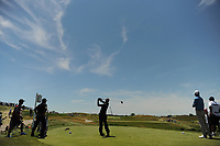 Aaron Rai (ENG) watches his tee shot on 12 during Friday's round 2 of the 117th U.S. Open, at Erin Hills, Erin, Wisconsin. 6/16/2017.<br /> Picture: Golffile | Ken Murray<br /> <br /> <br /> All photo usage must carry mandatory copyright credit (&copy; Golffile | Ken Murray)