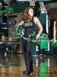 The North Texas Mean Green dance team in action during the game between the Troy Trojans and the University of North Texas Mean Green at the North Texas Coliseum,the Super Pit, in Denton, Texas. UNT defeats Troy 87 to 65....