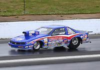 May 19, 2014; Commerce, GA, USA; NHRA super gas driver Chuck Westcott during the Southern Nationals at Atlanta Dragway. Mandatory Credit: Mark J. Rebilas-USA TODAY Sports