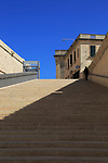 Flight of steps in City Gate redevelopment designed by Renzo Piano, Valletta, Malta