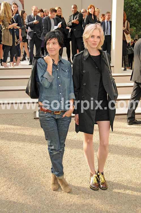 **ALL ROUND PICTURES FROM SOLARPIX.COM**                                             **WORLDWIDE SYNDICATION RIGHTS**                                                                                  Caption: The Burberry 2011 catwalk show as part of London Fashion Week at Chelsea College of Art and Design, London, UK. 21 September 2010                                                                              This pic: Sharleen Spiteri                                                                           JOB REF: 12162 MSR       DATE: 21_09_2010                                                           **MUST CREDIT SOLARPIX.COM OR DOUBLE FEE WILL BE CHARGED**                                                                      **MUST AGREE FEE BEFORE ONLINE USAGE**                               **CALL US ON: +34 952 811 768 or LOW RATE FROM UK 0844 617 7637**