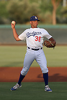 Jared Walker #36 of the AZL Dodgers during a game against the AZL Athletics at Camelback Ranch on July 12, 2014 in Glendale, Arizona. AZL Athletics defeated the AZL Dodgers, 3-2. (Larry Goren/Four Seam Images)