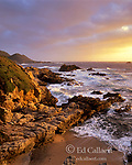 Sunset, Surf, Garrapata State Park, Big Sur, Monterey County, California
