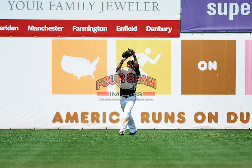 New Britain Rock Cats outfielder Danny Ortiz (5) during game against the Richmond Flying Squirrels at New Britain Stadium on May 30, 2013 in New Britain, CT.  New Britain defeated Richmond 2-1.  (Tomasso DeRosa/Four Seam Images)