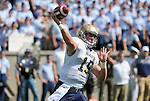 October 1, 2016 - Colorado Springs, Colorado, U.S. -  Navy quarterback, Will Worth #15, drops back to pass during the NCAA Football game between the Naval Academy Midshipmen and the Air Force Academy Falcons, Falcon Stadium, U.S. Air Force Academy, Colorado Springs, Colorado.  Air Force defeats Navy 28-14 to remain undefeated.