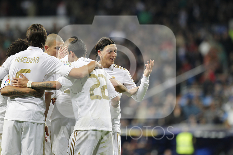 Madrid (14/04/2012).- Estadio Santiago Bernabeu..Liga BBVA.Real Madrid - Sporting de Gijon..Ozil...Photo: Alex Cid-Fuentes / ALFAQUI..