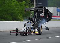May 13, 2011; Commerce, GA, USA: NHRA top fuel dragster driver David Grubnic during qualifying for the Southern Nationals at Atlanta Dragway. Mandatory Credit: Mark J. Rebilas-
