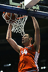23 December 2008:    Illini's Mike Tisdale slams the ball in the first period.  The University of Missouri and the University of Illinois competed in the annual Busch Braggin' Rights basketball game at the Scottrade Center in downtown St. Louis, Missouri on Tuesday December 23, 2008...