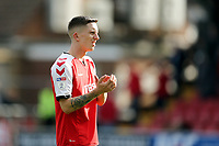 Fleetwood Town's Ashley Hunter acknowledges the fans at the final whistle<br /> <br /> Photographer Rich Linley/CameraSport<br /> <br /> The EFL Sky Bet League One - Fleetwood Town v Oxford United - Saturday 7th September 2019 - Highbury Stadium - Fleetwood<br /> <br /> World Copyright © 2019 CameraSport. All rights reserved. 43 Linden Ave. Countesthorpe. Leicester. England. LE8 5PG - Tel: +44 (0) 116 277 4147 - admin@camerasport.com - www.camerasport.com