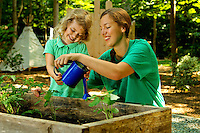 Photography of the Charlotte Nature Museum and its new Fort Wild natural outdoor habitat designed to encourage unstructured play and exploration of nature. Fort Wild, funded by the National Wildlife Federation, shows families how to create outdoor play spaces from natural elements found in their own backyards.