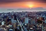 Lima, Peru, Setting Sun, Pacific Ocean