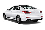 Car pictures of rear three quarter view of a 2018 Genesis G80 Sport 4 Door Sedan angular rear