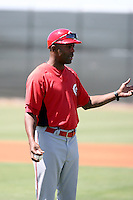 Delino DeShields, manager - Cincinnati Reds 2010 extended spring training team.Photo by:  Bill Mitchell/Four Seam Images.