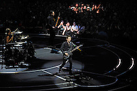 LONDON, ENGLAND - APRIL 3: Matt Bellamy, Dominic Howard, Chris Wolstenholme of 'Muse' performing at the O2 Arena on April 3, 2016 in London, England.<br /> * Press use only. No merchandising *<br /> CAP/MAR<br /> &copy;MAR/Capital Pictures /MediaPunch ***NORTH AND SOUTH AMERICAS ONLY***
