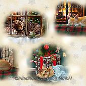 GIORDANO, GIFT WRAPS, GESCHENKPAPIER, PAPEL DE REGALO, Christmas Santa, Snowman, Weihnachtsmänner, Schneemänner, Papá Noel, muñecos de nieve, paintings+++++Fireside Kittens Scenic,USGIPROV10,#gp#,#x#