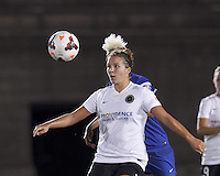 Allston, Massachusetts - August 10, 2014:  In a National Women's Soccer League (NWSL) match, Boston Breakers (blue) defeated Portland Thorns FC (white/black), 2-0, at Harvard Stadium.