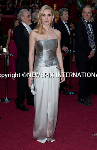 "KATE WINSLET AND HUSBAND SAM MENDES SPLIT.Kate Winslet has separated from her director husband Sam Mendes after nearly seven years of marriage..Kate and Sam are saddened to announce that they separated earlier this year,"" confirmed lawyers for the Oscar-winning actress..The statement added: ""The split is entirely amicable and is by mutual agreement. Both parties are fully committed to the future joint parenting of their children."".Winslet married Mendes, whose box office hits include American Beauty, in a secret ceremony in May 2003 on the island on Anguilla in the Caribbean. They have a son together, Joe Alfie Winslet Mendes who was born in New York on 22 December 2003..The pair began their relationship after Winslet split from director Jim Threapleton in 2001, with whom she had daughter, Mia Honey, 9..In her tearful Golden Globe speech last year she sobbed, working with her husband on Revolutionary Road had made her love him more...KATE WINSLET.OSCARS 2010 RED CARPET ARRIVALS_KATE WINSLET.The 82nd Academy Awards  arrivals took place under a transparent tent to keep the red carpet dry from the pending rain_ Kodak Theatre, Hollywood, Los Angeles_07/03/2009.Mandatory Photo Credit: ©Dias/Newspix International..**ALL FEES PAYABLE TO: ""NEWSPIX INTERNATIONAL""**..PHOTO CREDIT MANDATORY!!: NEWSPIX INTERNATIONAL(Failure to credit will incur a surcharge of 100% of reproduction fees)..IMMEDIATE CONFIRMATION OF USAGE REQUIRED:.Newspix International, 31 Chinnery Hill, Bishop's Stortford, ENGLAND CM23 3PS.Tel:+441279 324672  ; Fax: +441279656877.Mobile:  0777568 1153.e-mail: info@newspixinternational.co.uk"