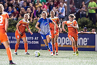 Allston, MA - Wednesday Aug. 31, 2016: Kristie Mewis, Morgan Brian during a regular season National Women's Soccer League (NWSL) match between the Boston Breakers and the Houston Dash at Jordan Field.