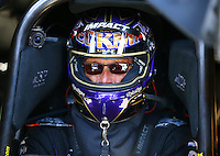 Aug 2, 2015; Sonoma, CA, USA; NHRA funny car driver Jack Beckman during the Sonoma Nationals at Sonoma Raceway. Mandatory Credit: Mark J. Rebilas-