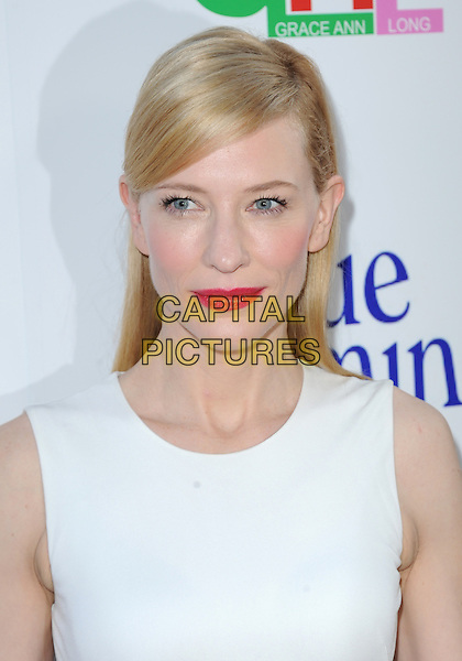 Cate Blanchett <br /> 'Blue Jasmine'  L.A. premiere at The Academy of Motion Pictures Arts and Sciences in Beverly Hills, California, USA.<br /> 24th July 2013 <br /> headshot portrait white sleeveless red lipstick <br /> CAP/DVS<br /> &copy;DVS/Capital Pictures