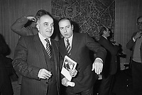 - il senatore della Democrazia Cristiana Antonio Gava e l'imprenditore Silvio Berlusconi (Milano, 1984)....- the senator of the Christian Democratic Party  Antonio Gava and the businessman Silvio Berlusconi (Milan, 1984)..