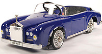 BNPS.co.uk (01202 558833)<br /> Pic: EastBristolAuctions/BNPS<br /> <br /> £800 - A rare original vintage 1970's Morellet & Guerineau made child's ' Rolls Royce Silver Cloud ' pedal car.<br />   <br /> Toy story...<br /> <br /> A remarkable lifetime collection of 30 vintage toy cars has emerged for sale for more than £65,000.<br /> <br /> The fleet of rare pedal cars were acquired over almost half a century by retired car garage owner David Worrow, 72.<br /> <br /> During their time with Mr Worrow they formed what was believed to be the biggest private collection of its kind in the world.