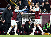 Burnley's Stephen Ward is replaced by Johann Gudmundsson<br /> <br /> Photographer Rich Linley/CameraSport<br /> <br /> Emirates FA Cup Third Round - Burnley v Barnsley - Saturday 5th January 2019 - Turf Moor - Burnley<br />  <br /> World Copyright &copy; 2019 CameraSport. All rights reserved. 43 Linden Ave. Countesthorpe. Leicester. England. LE8 5PG - Tel: +44 (0) 116 277 4147 - admin@camerasport.com - www.camerasport.com