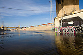 From 2008. Graffiti under the 6th St Bridge, Stop on Folar's tour of the LA River, Los Angeles, California, USA