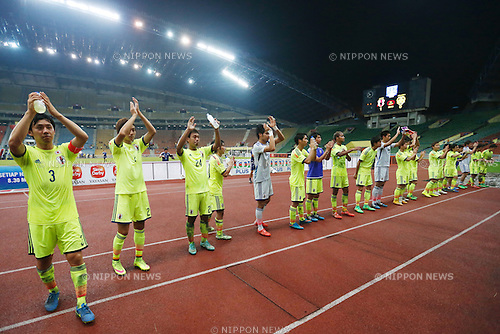U-22U-22 Japan team group (JPN), MARCH 31, 2015 - Football / Soccer : AFC U-23 Championship 2016 Qualification Group I match between U-22 Japan 1-0 U-22 Malaysia at Shah Alam Stadium in Shah Alam, Malaysia. (Photo by Sho Tamura/AFLO SPORT)